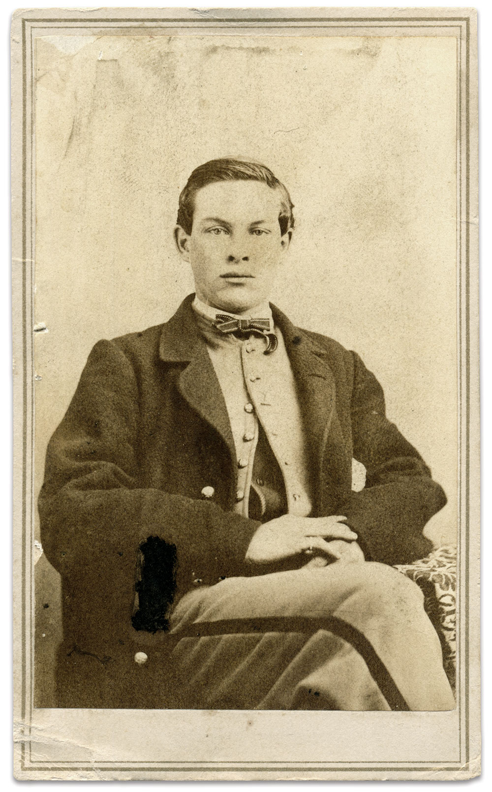 Cpl. May. Carte de visite by L.D. Cox of Ludlow, Vt. John Gibson Collection.