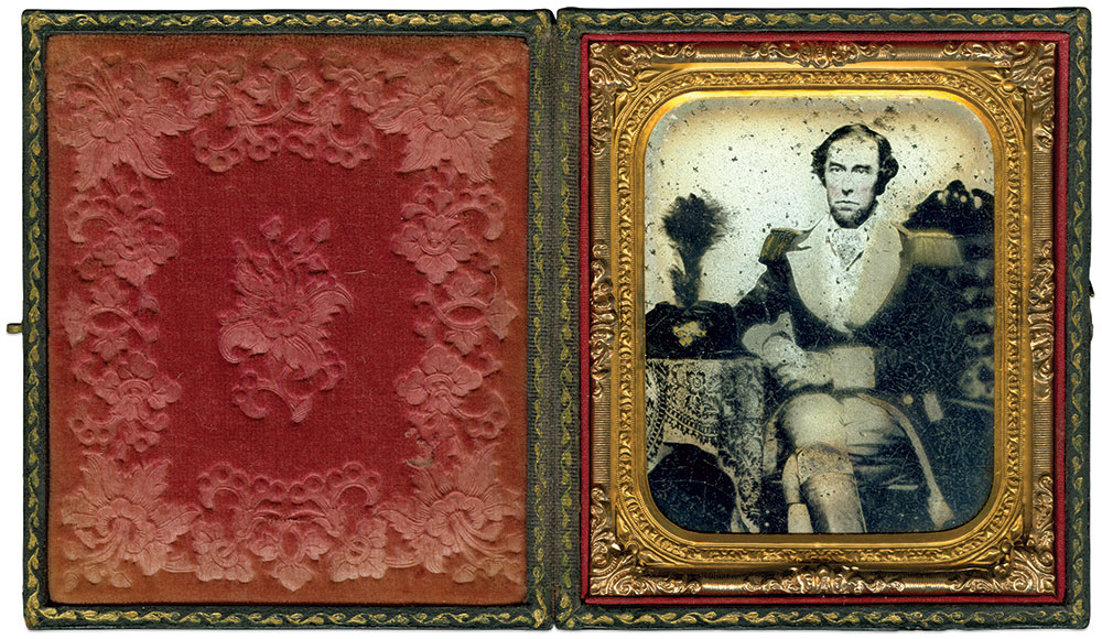Sixth-plate ambrotype by an anonymous photographer. Ron Field Collection.