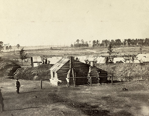 Fort Harrison after its occupation by Union forces. Library of Congress.