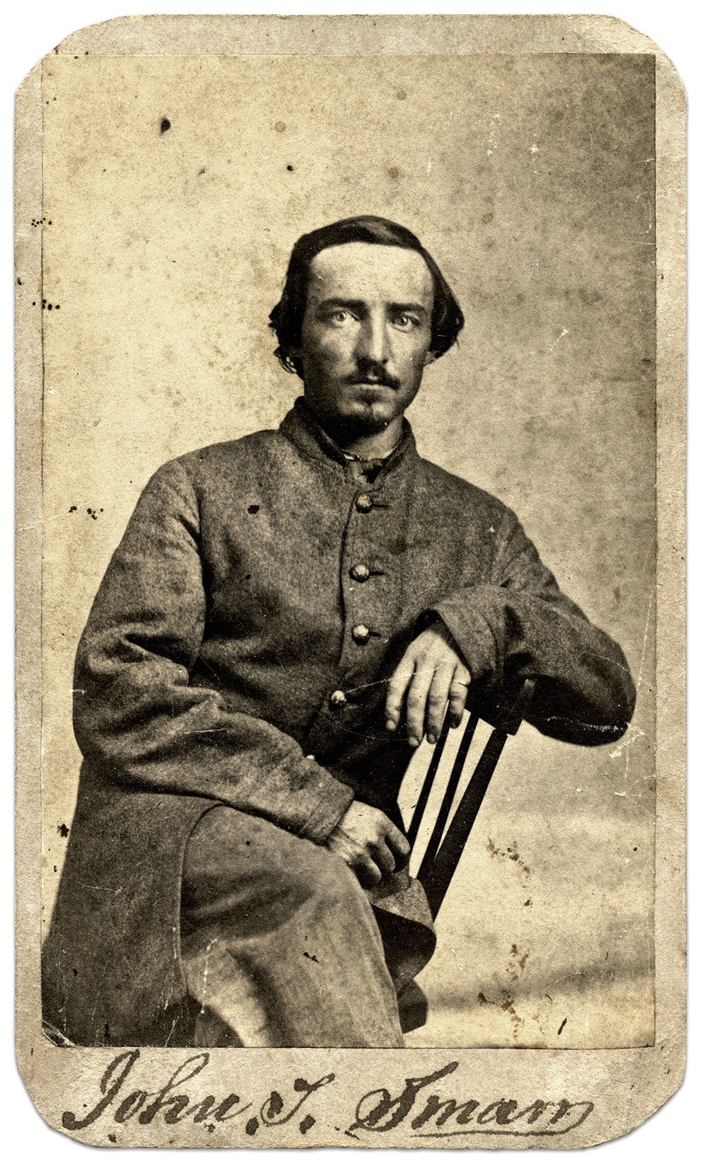 Carte de visite by Terrill's Sunbeam Gallery of Chicago, Ill. The late John Sickles Collection.