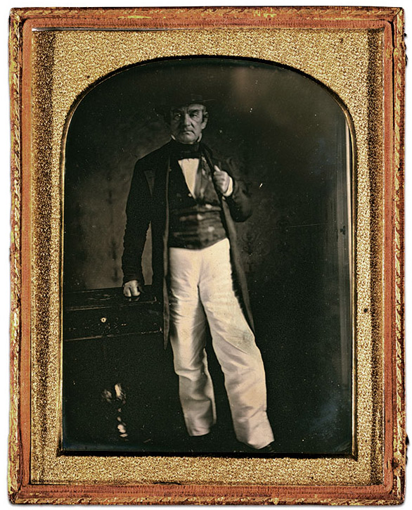 Principle Chief John Ross, circa 1850. Half-plate daguerreotype by an anonymous photographer. Library of Congress.