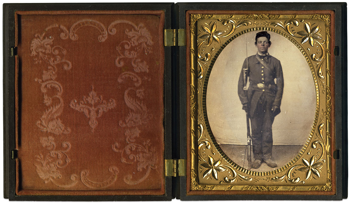 Quarter-plate tintype by an anonymous photographer. John Gibson Collection.