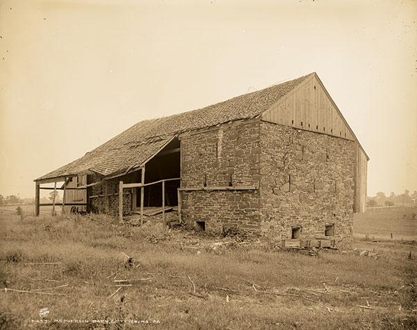 The McPherson Barn, circa 1900. Library of Congress.