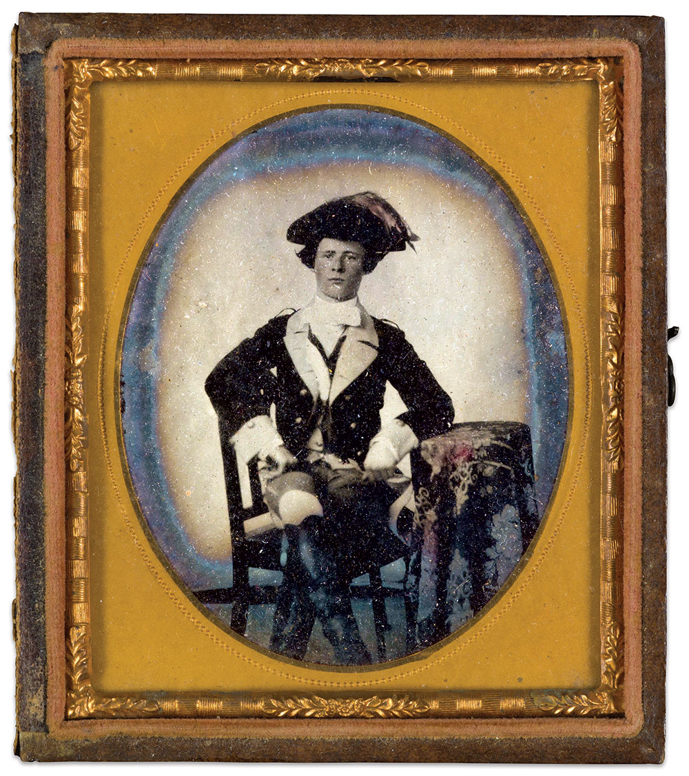 Sixth-plate ambrotype by an anonymous photographer. Courtesy of the Historic New Orleans Collection.