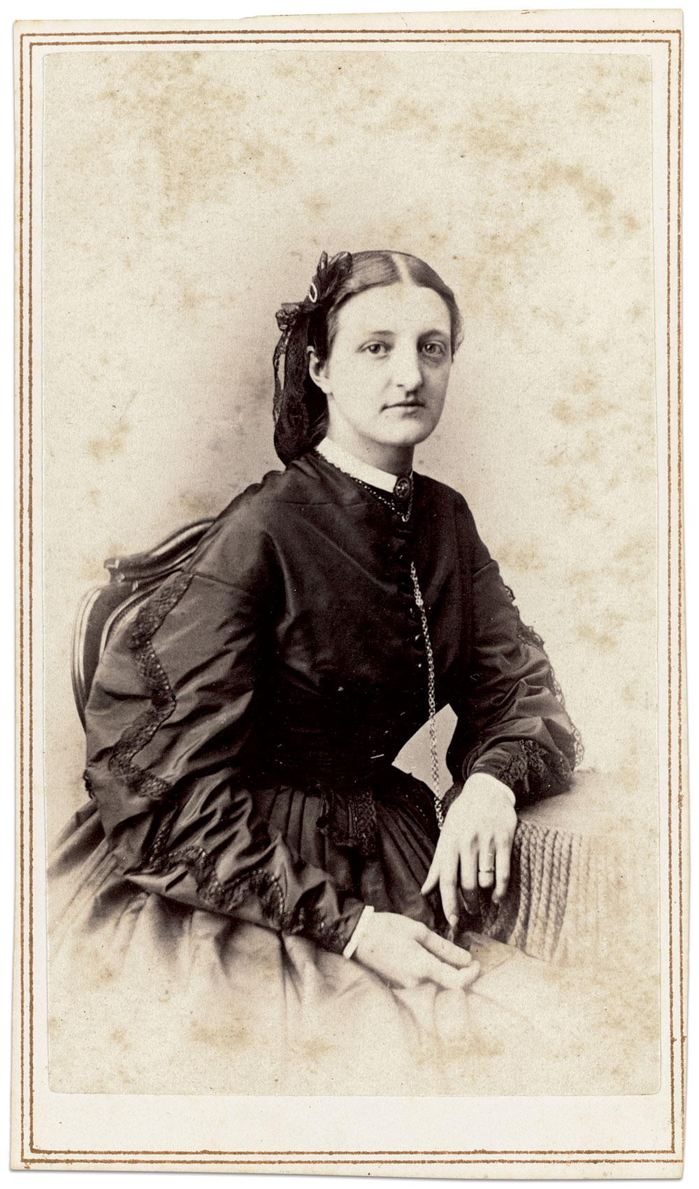 Georgiana Willets Stradling. Carte de visite by Charles D. Fredricks of New York City. Collection of the Library of Congress and the National Museum of African American History & Culture.