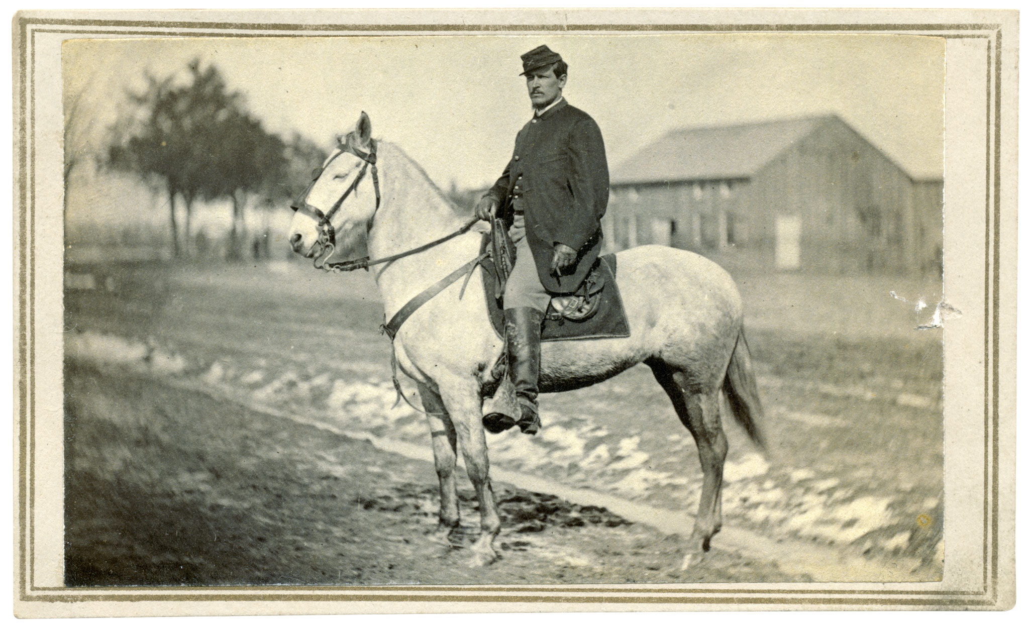 CYRUS CHADBOURN EMERY (1840-1896), a painter born in Roxbury, Mass., started the war in the 2nd Massachusetts Cavalry. He joined the 5th as a first lieutenant in January 1864 and ended his service in October 1865 as the regiment's major, though he never mustered as that rank.