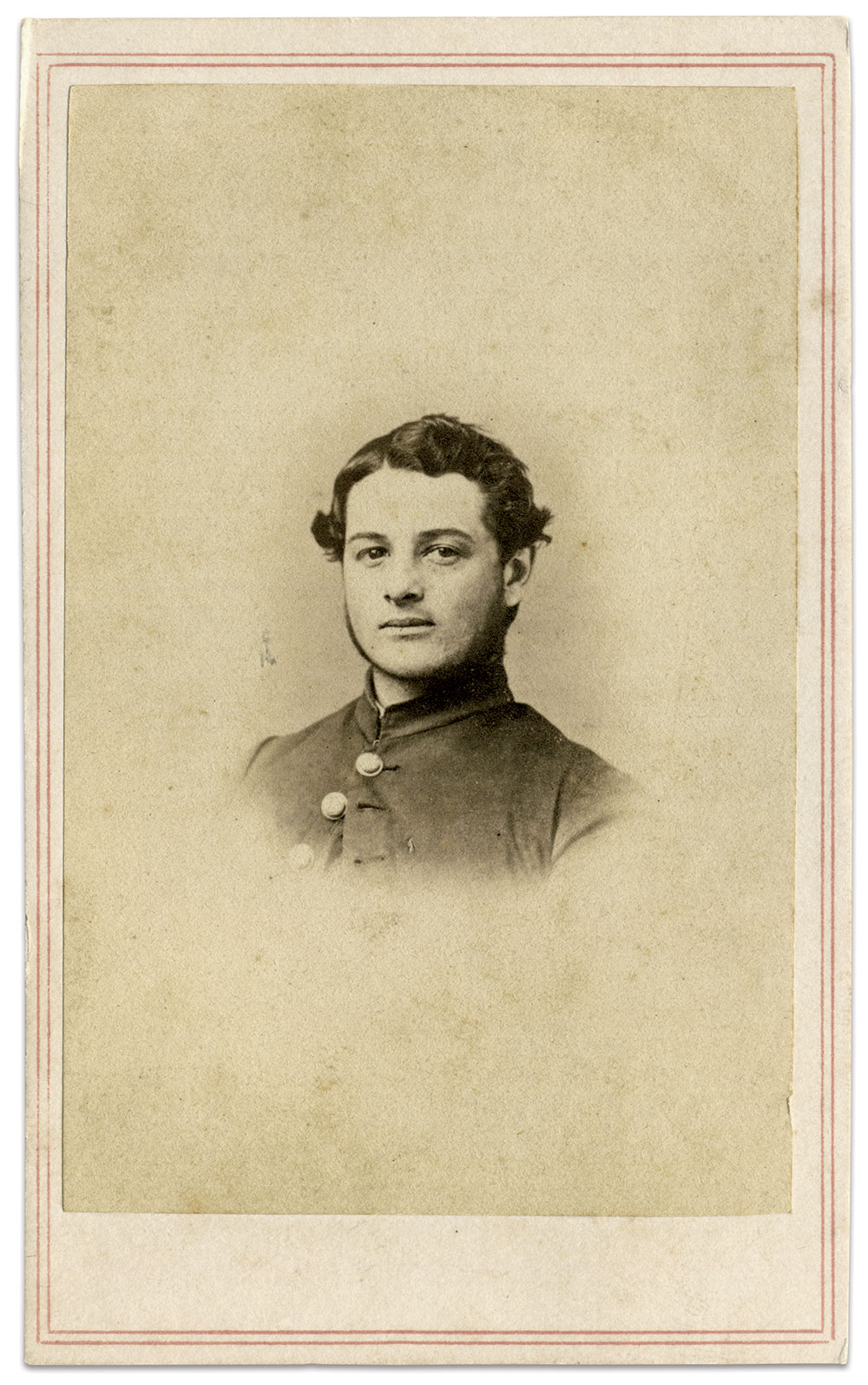 Carte de visite by J.A. Williams at Lovell General Hospital in Portsmouth Grove, R.I. John Gibson Collection.