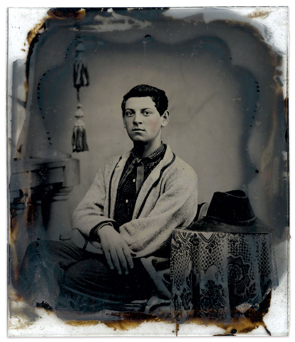 Sixth-plate ambrotype by an unidentified photographer.