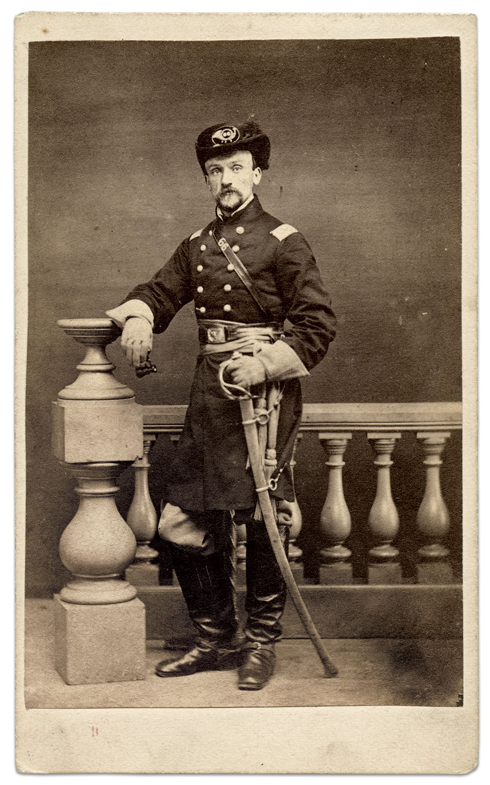 Carte de visite by Howard & Davies of Indianapolis, Ind. Rick Brown Collection.