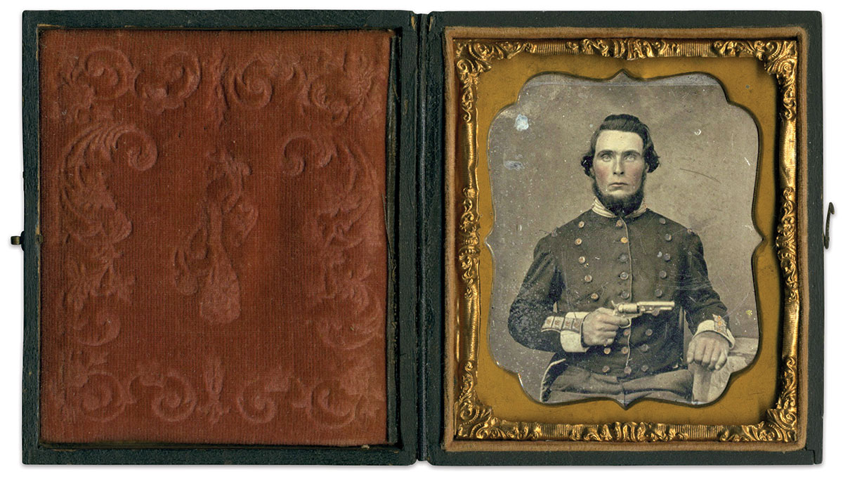Sixth-plate ambrotype by an anonymous photographer. Brad Burch Collection.
