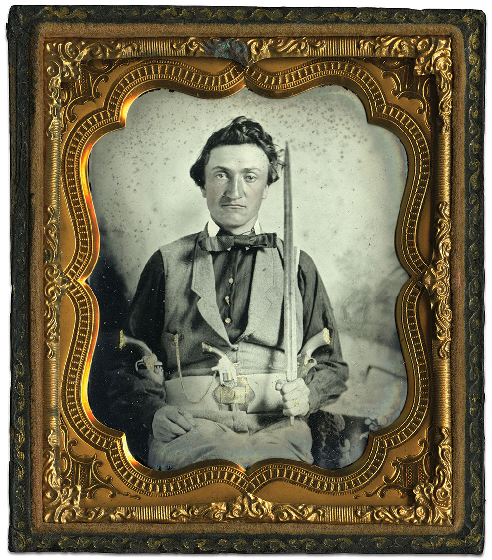 Sixth-plate ambrotype by an anonymous photographer. John Robella collection.