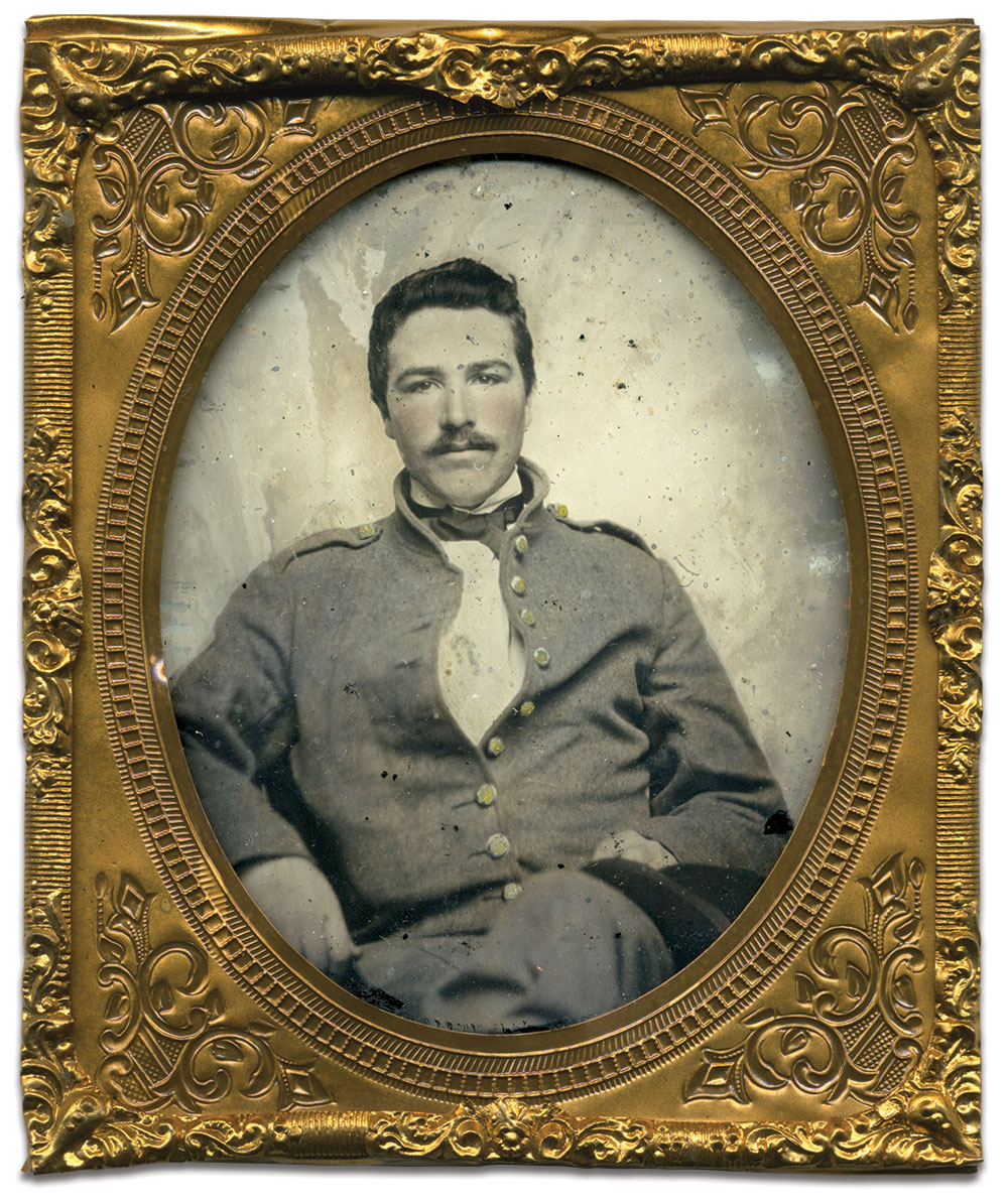Sixth-plate ambrotype by an anonymous photographer. Brian White collection.