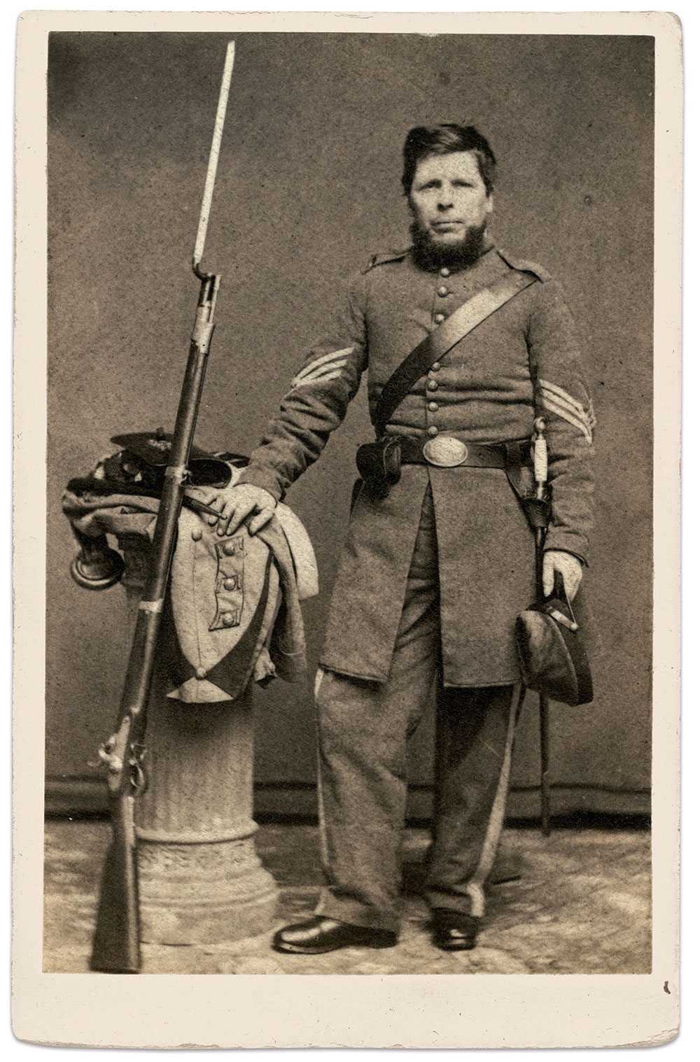 Carte de visite by Newell of Philadelphia, Pa. Ron Field Collection.