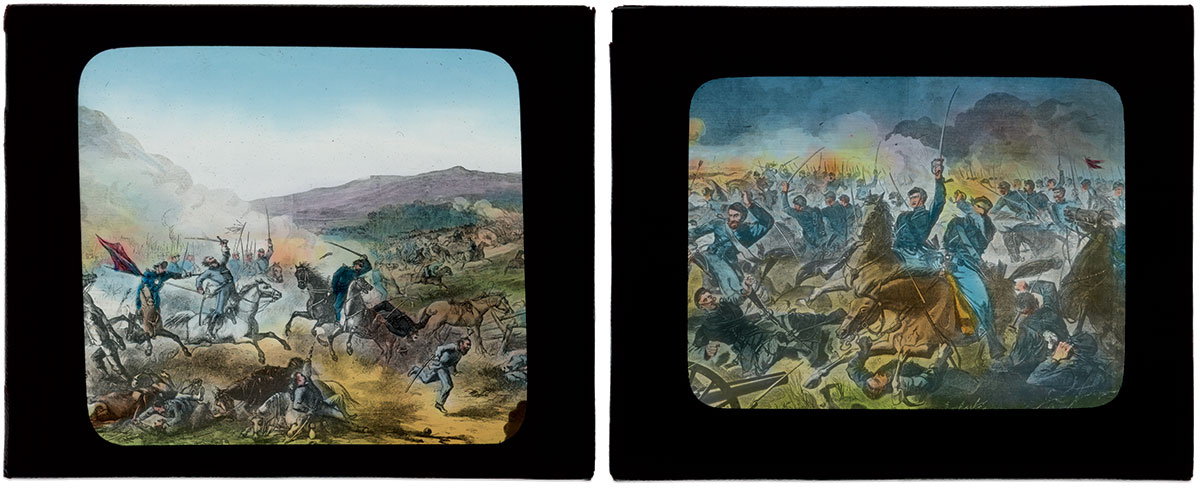 THE WAR'S MASTER ARTISTS, IN COLOR: The addition of color breathed new life into woodcut illustrations and engravings by Winslow Homer, left, and Thomas Nast.