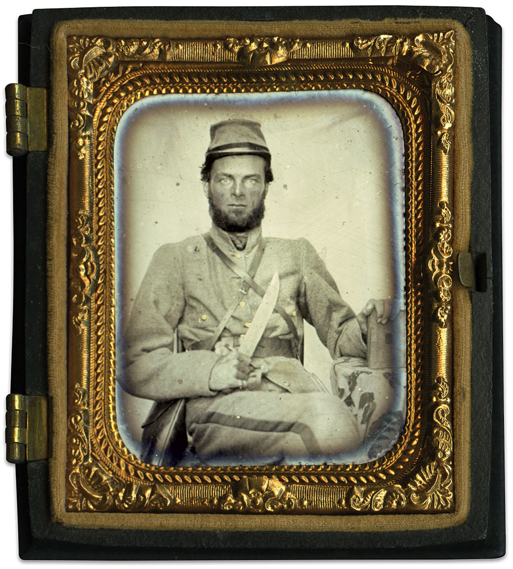 Ninth-plate tintype by an anonymous photographer. John Robella Collection.