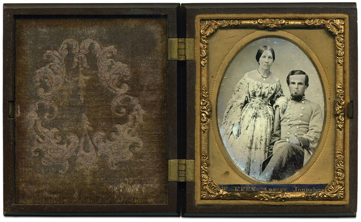 Ninth-plate tintype by Lillbern W. Keen of Jonesboro, Tenn. Richard Ferry Collection.