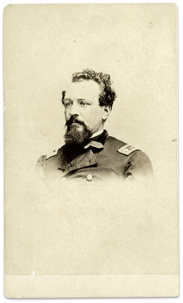 Col. James Gwyn commanded the brigade to which Williams and his regiment belonged. Carte de visite by an unidentified photographer. J. Gregory Acken Collection.