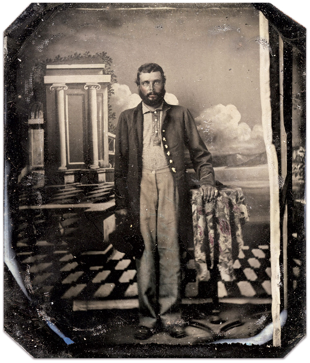 Sixth-plate tintypes. Ben Pauley Collection.