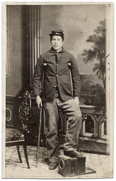 Carte de visite by Evans and Prince of York, Pa. Rick Carlile collection.
