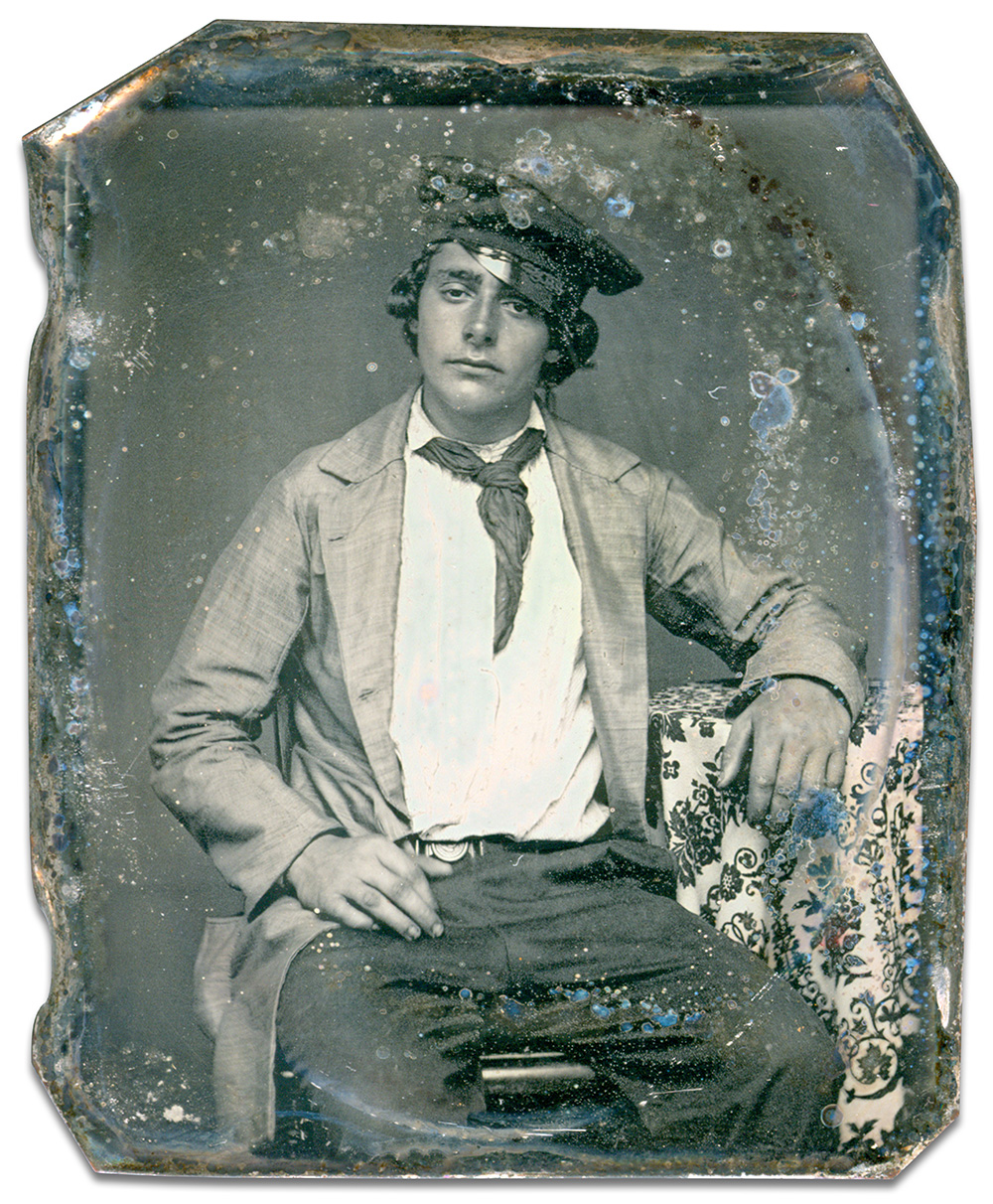 Ninth-plate daguerreotype by an anonymous photographer. Ron Field collection.