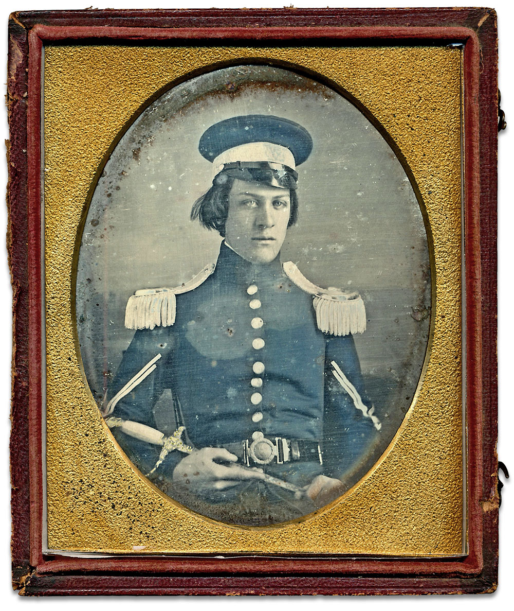 Quarter-plate daguerreotype by an anonymous photographer. Jules Martino collection.
