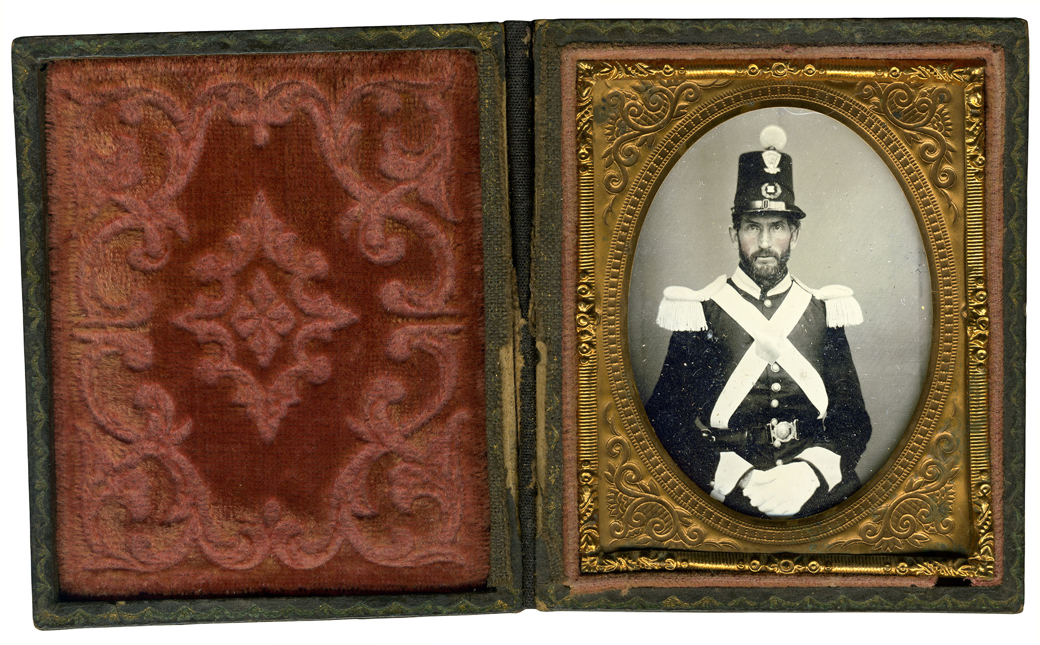 Ninth-plate tintype by an anonymous photographer. Dr. Dan Sydlowski collection.