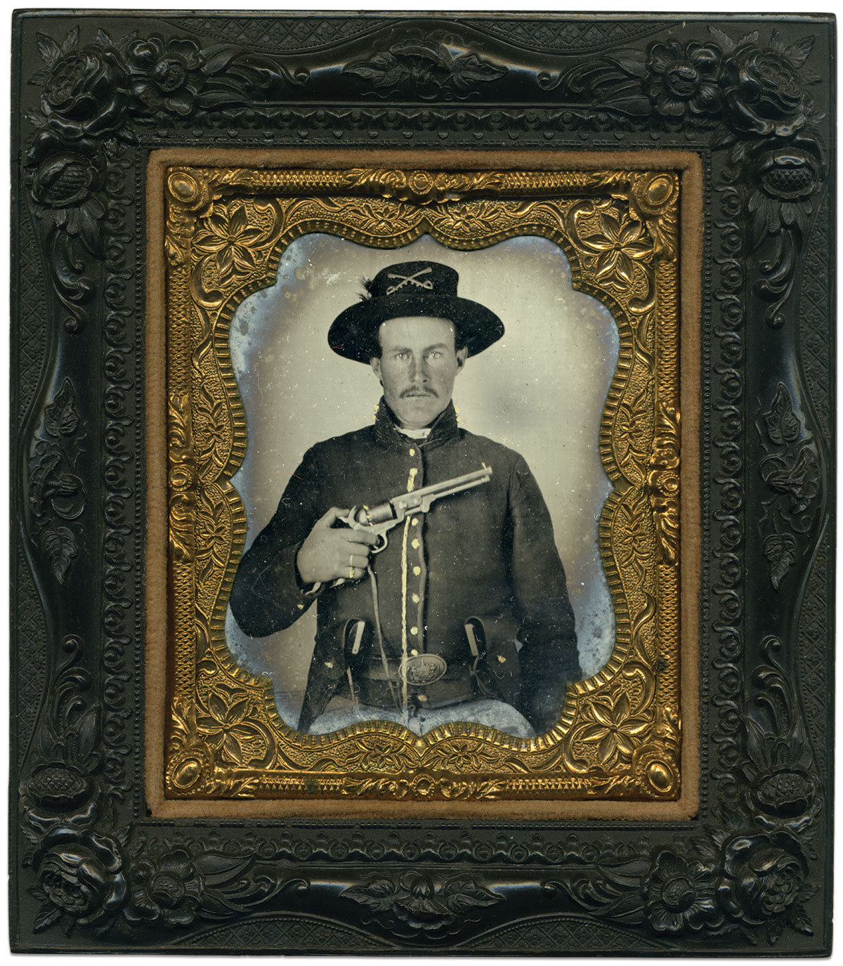 Sixth-plate tintype by an anonymous photographer. Dr. William Blackman Collection.