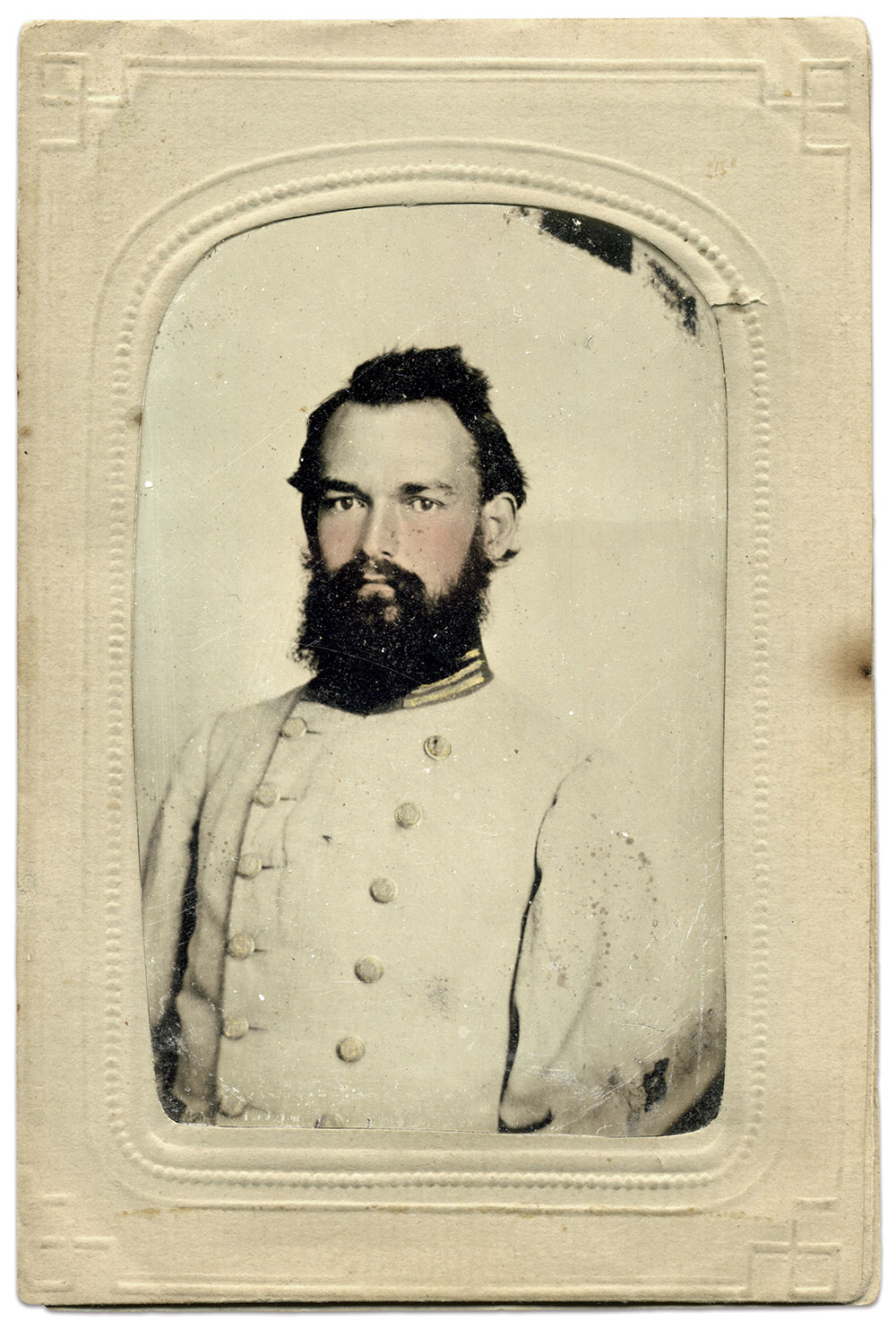 Eighth-plate tintype by an anonymous photographer. Joe Millazzo Collection.