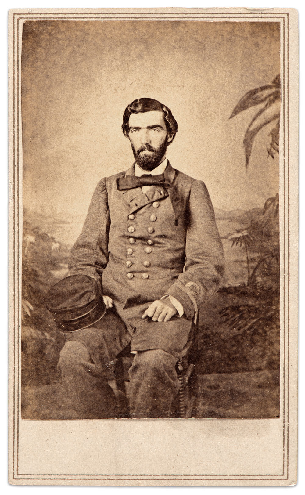 Lt. Samuel Wooten Averett pictured in Bermuda, March 1864. Averett graduated from the U.S. Naval Academy in 1859, and served as a midshipman on the Wyoming when he resigned his commission in June 1861. Appointed acting lieutenant in the Confederate navy in September 1861 at New Orleans, La., he served on the Atlanta before receiving orders to report to the Florida in October 1862. Averett served with distinction as lieutenant and executive officer on the Florida through 1864. Courtesy of the Confederate Memorial Literary Society (CMLS) Image Collection, Virginia Museum of History & Culture.