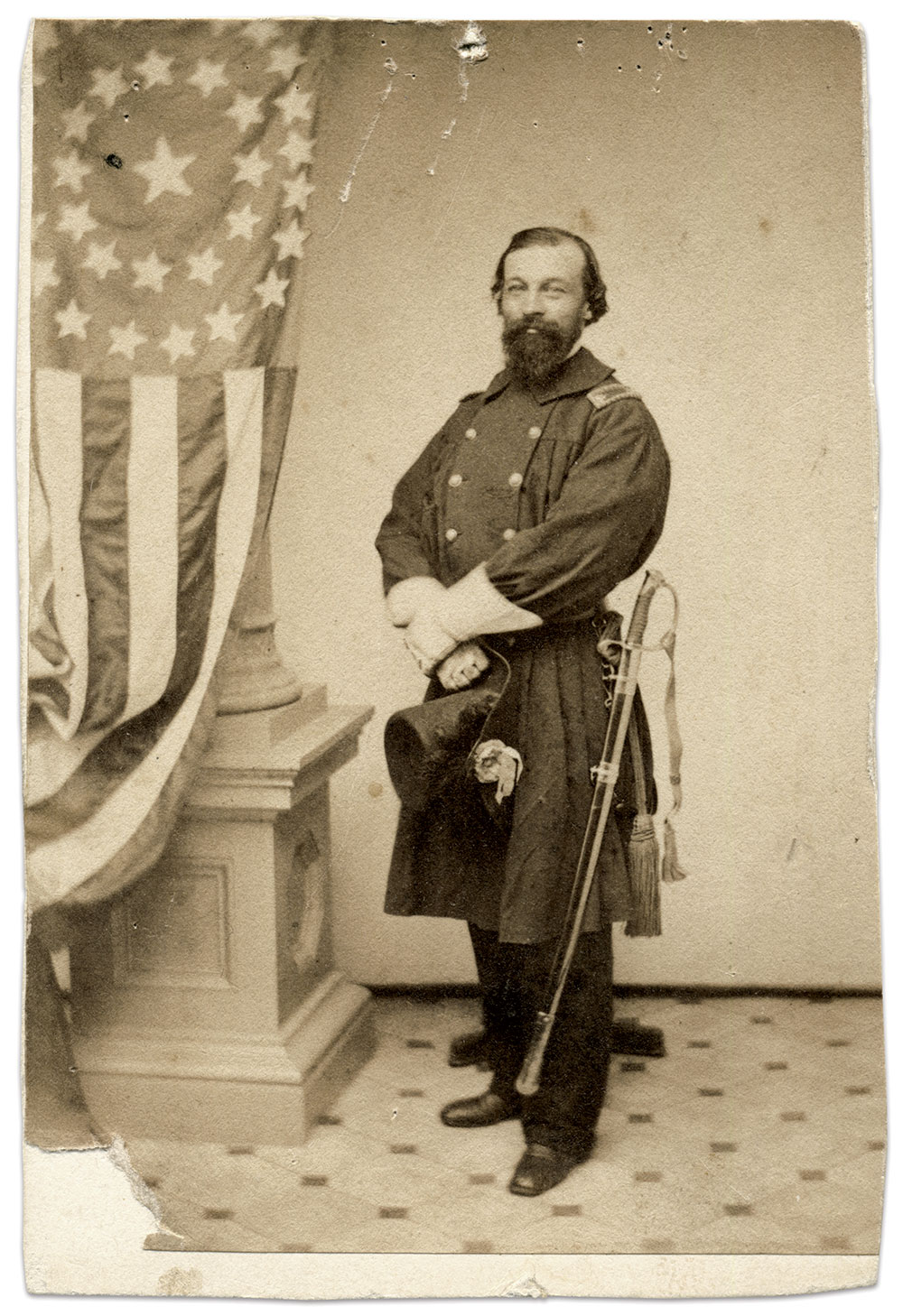 Carte de visite attributed to Bundy & Rowell of Providence, R.I. Rick Carlile Collection.