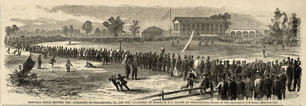 HARPER'S ILLUSTRATOR: Before Beale's slide art, his illustrations appeared in the nation's top magazines, including this depiction of a baseball game between the Philadelphia Athletics and the Brooklyn Atlantics in the Nov. 18, 1865, issue of Harper's Weekly.