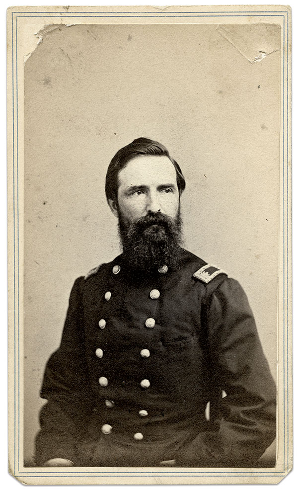 Watson pictured as paymaster. Carte de visite by J.H. Abbott of Albany, N.Y. Collection of Deb and Gil Barrett.