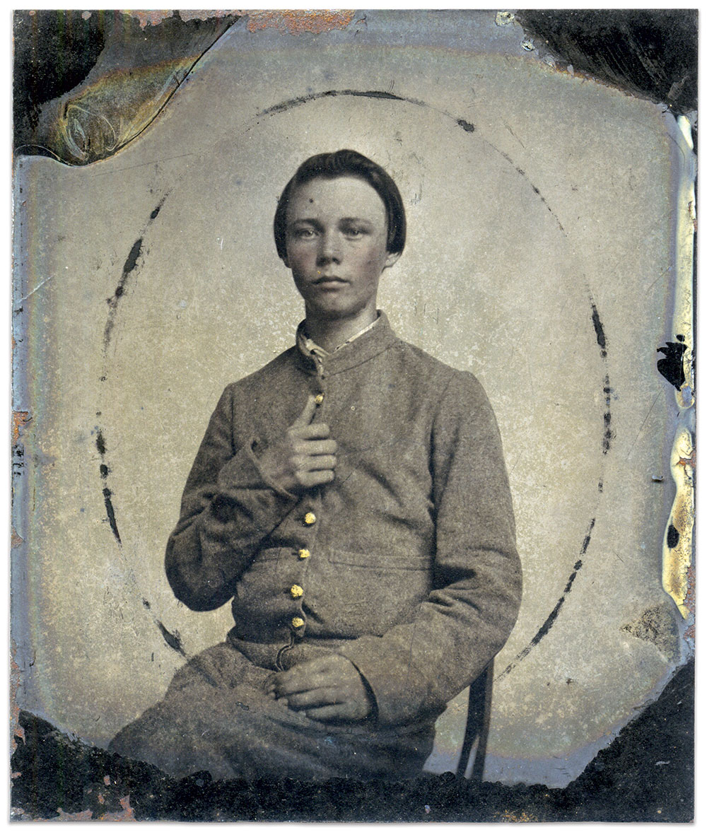 Sixth-plate tintype by an anonymous photographer. Michele Behan Collection.