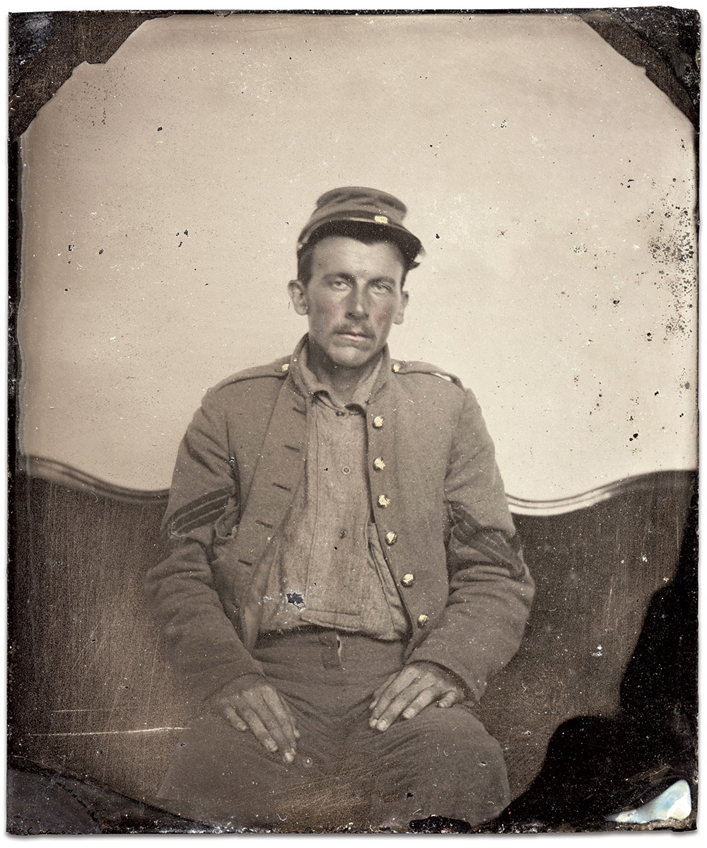 Sixth-plate ambrotype by an anonymous photographer. Ben Pauley Collection.