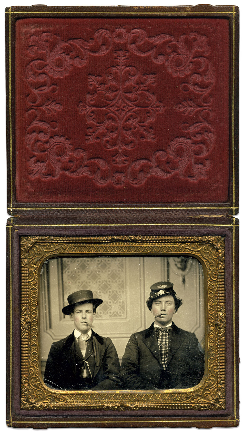 Sixth-plate tintype by an anonymous photographer. Ken Bertholf Collection.