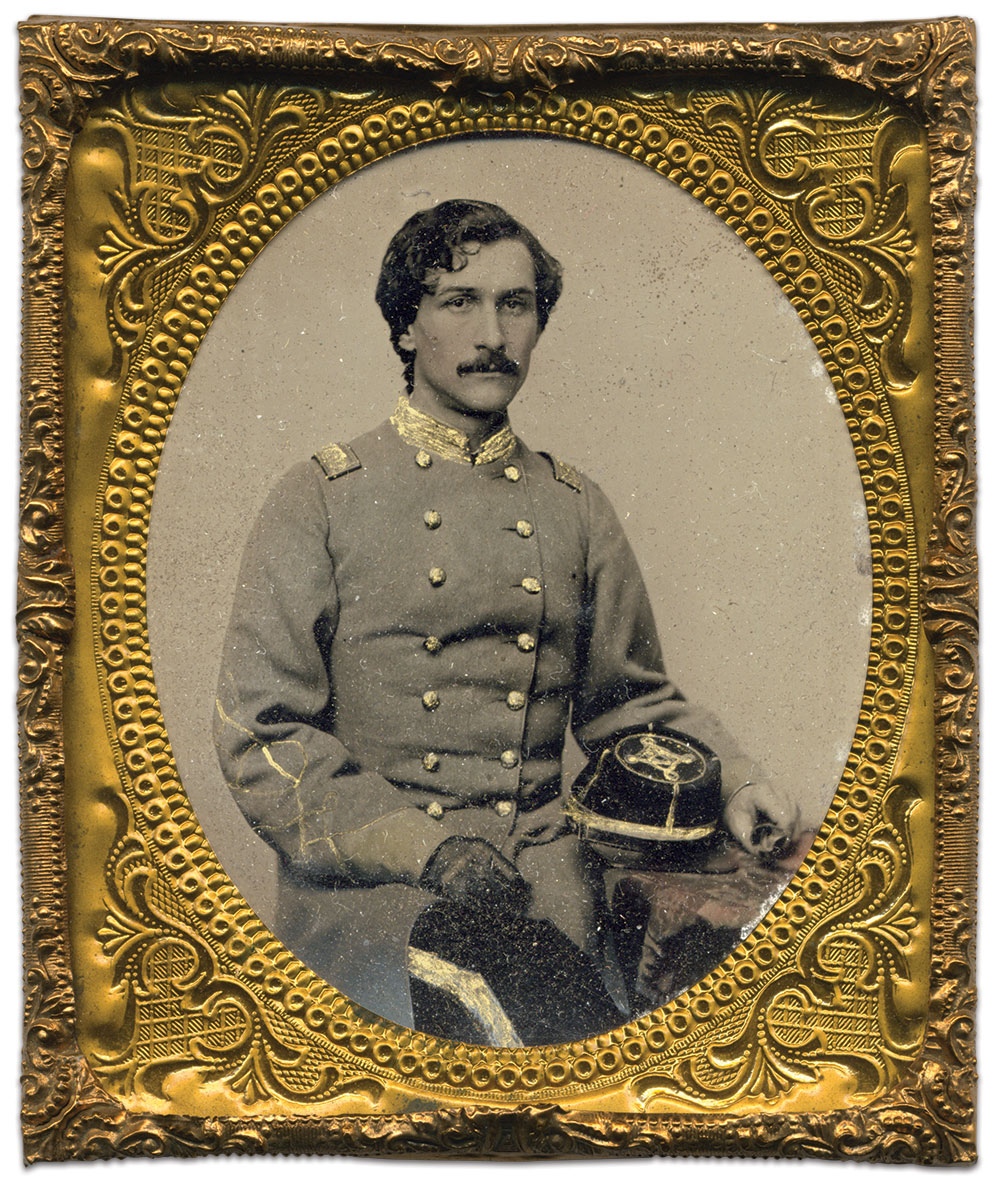 Hewitt maintained ties to Bedford County, Va., the ancestral home of his father in the early 1800s. This portrait resided with Hewitt's Virginia descendants until the 1990s. Sixth-plate tintype possibly taken in Lynchburg, Va. Brian Boeve Collection.