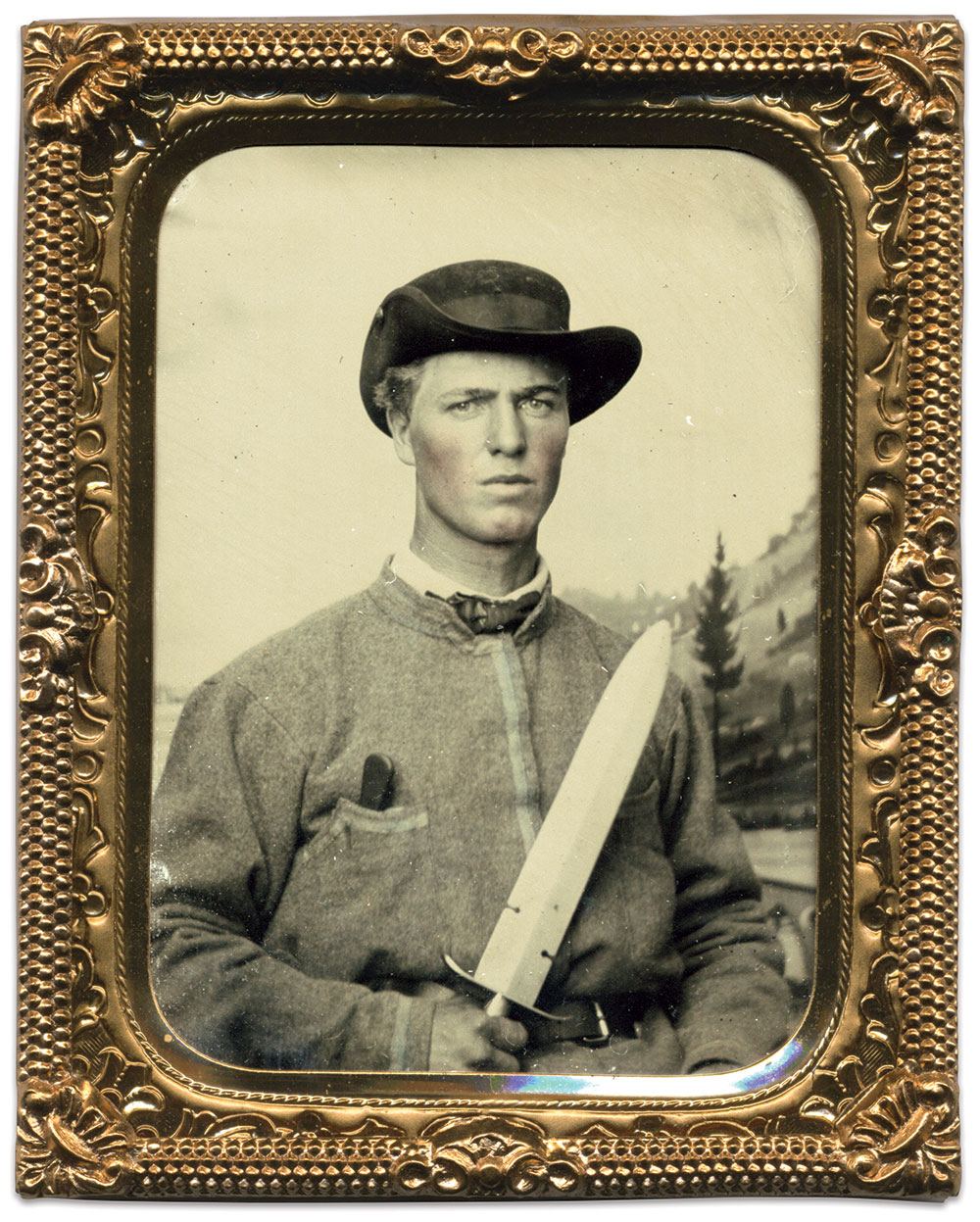 Ninth-plate tintype by an anonymous photographer. Brian Boeve Collection.