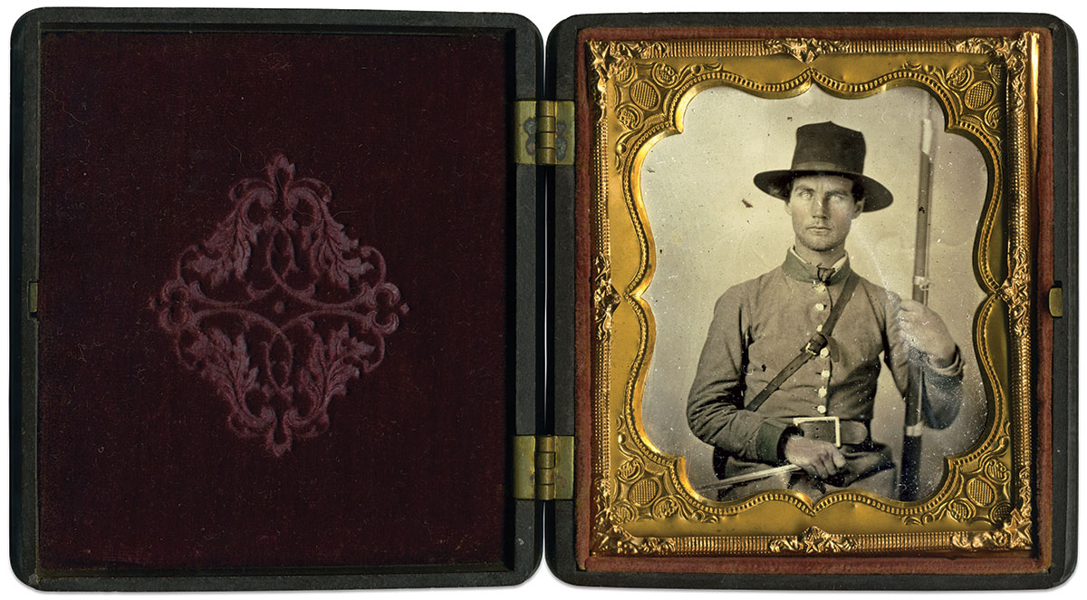 Sixth-plate tintype by an anonymous photographer. Brian Boeve Collection.