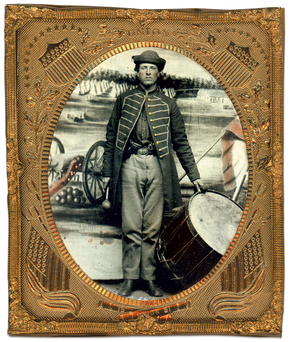 Sixth-plate ambrotype by an unidentified photographer. Brian Boeve Collection.