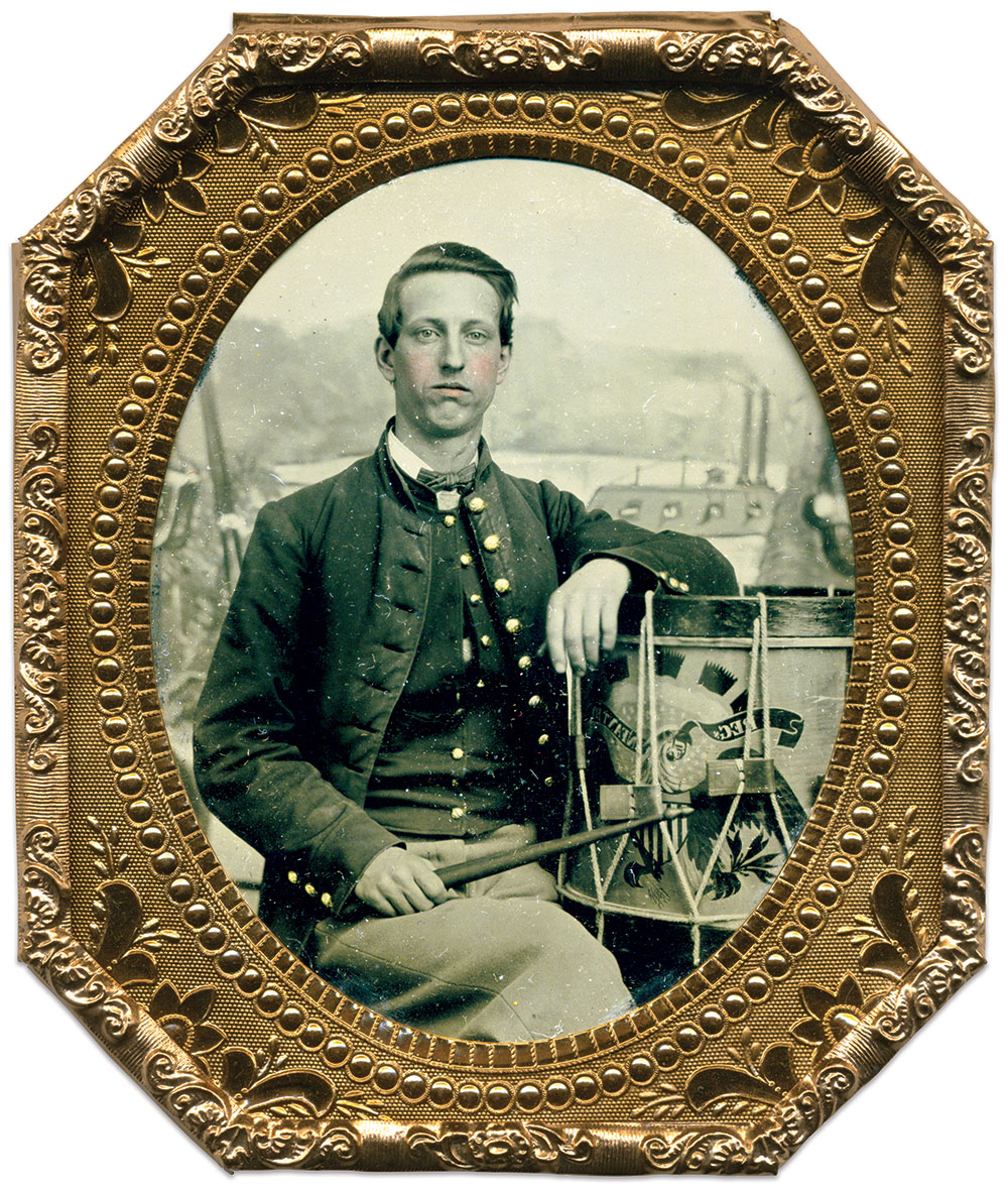 Sixth-plate tintype by Enoch Long of St. Louis, Mo. Brian Boeve Collection.
