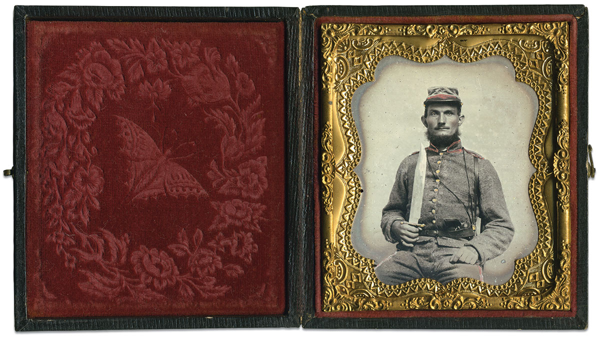 Sixth-plate ambrotype by an anonymous photographer. Bruce Bonfield Collection.