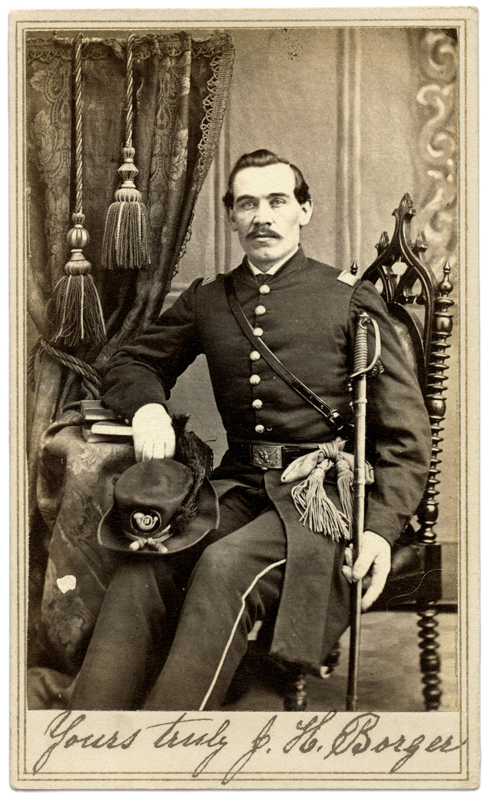 2nd Lt. John Herman Borger, 12th Iowa Infantry.Carte de visite by William Brown of St. Louis, Mo. Author's Collection.