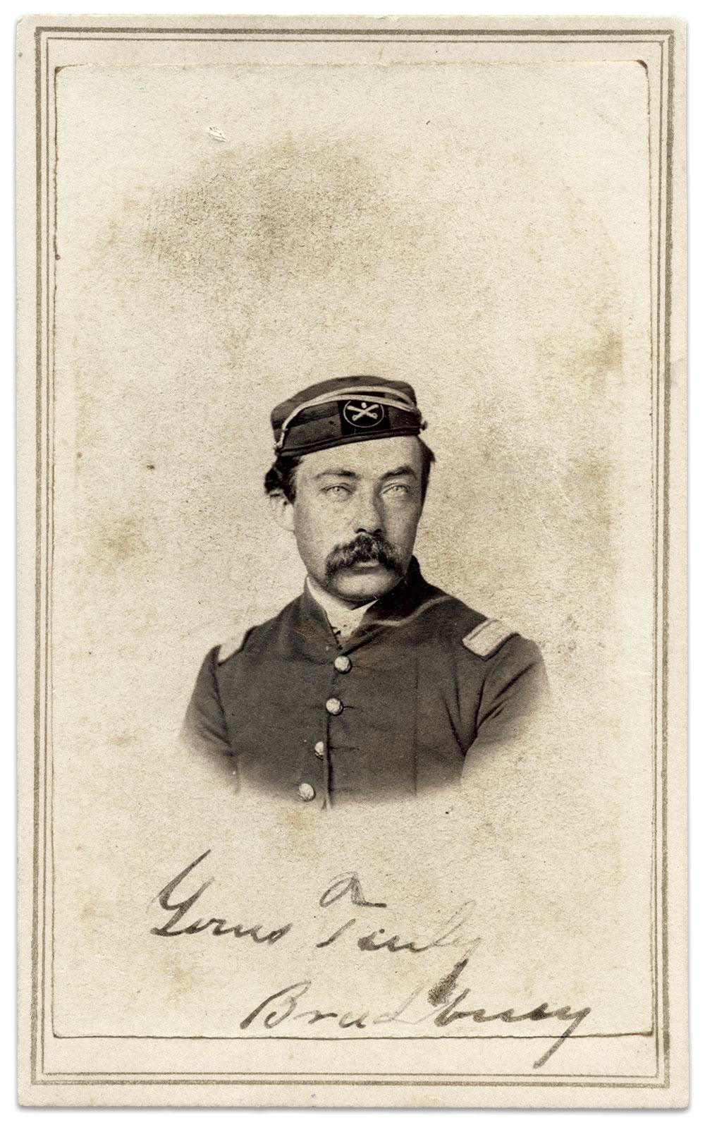 Sanford D. Bradbury as a lieutenant in the 6th U.S. Colored Cavalry. Carte de visite by Paige & Mills of Washington, D.C. Jim Quinlan Collection.