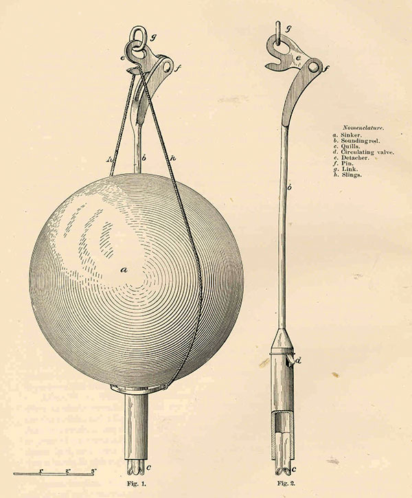 Brooke's Deep Sea Sounding Apparatus. Wikimedia Commons.