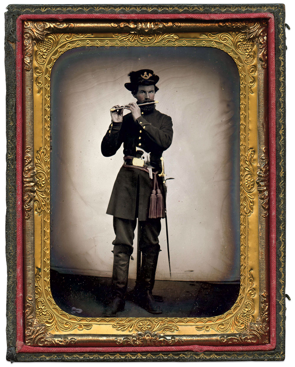 Quarter-plate tintype by an anonymous photographer. Rick Brown Collection of American Photography.