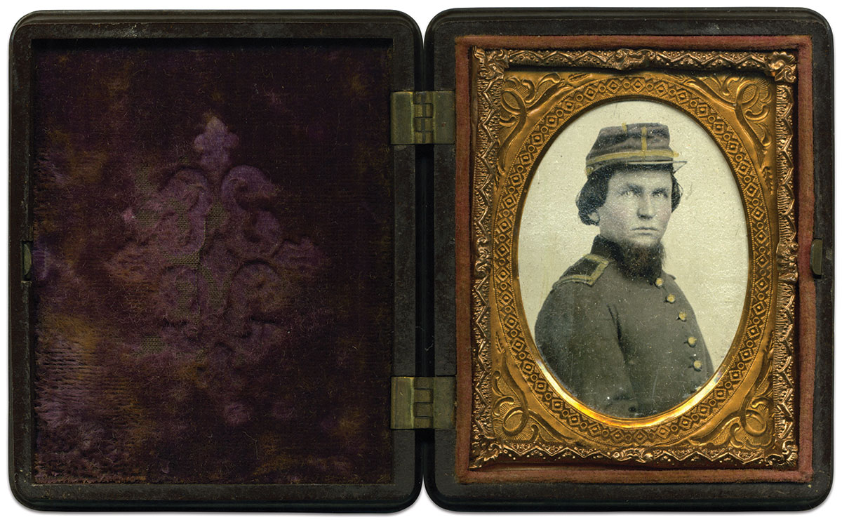 Ninth-plate tintype by an anonymous photographer. Rick Brown Collection.