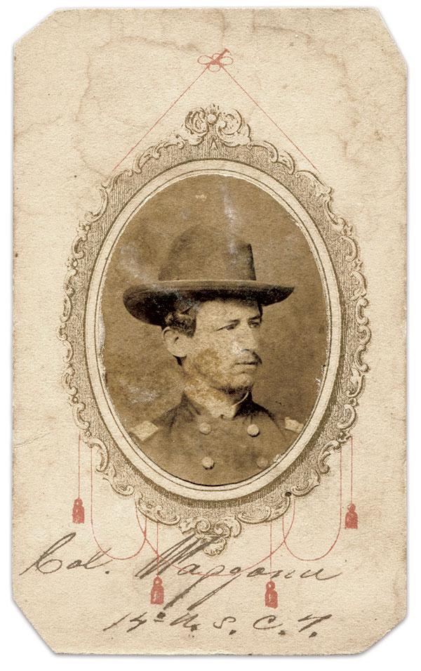 Morgan. Carte de visite by an anonymous photographer. Rick Brown Collection.