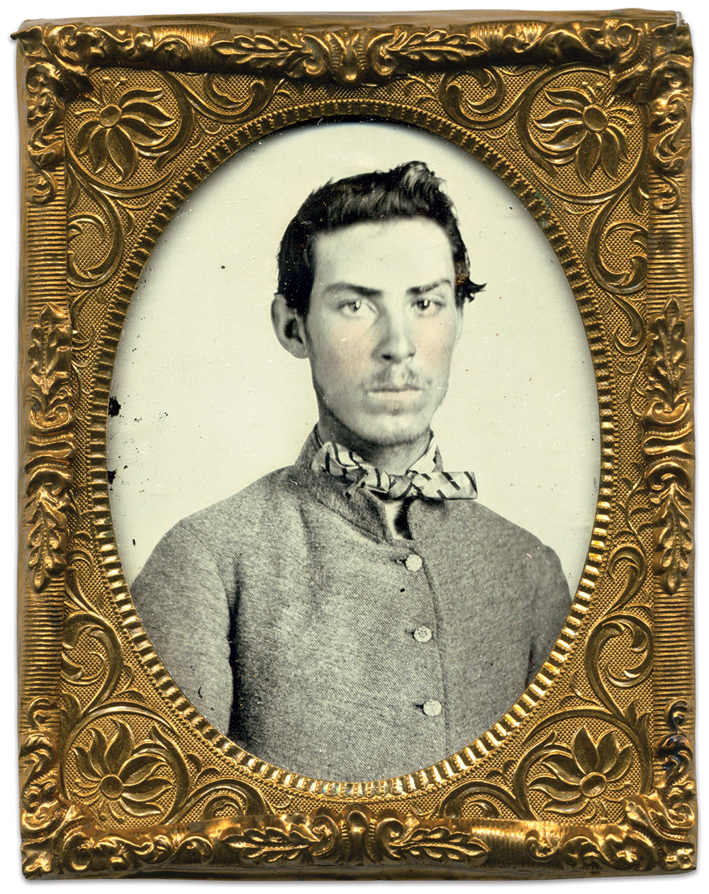 Ninth-plate ambrotype by an anonymous photographer. Rick Brown Collection.