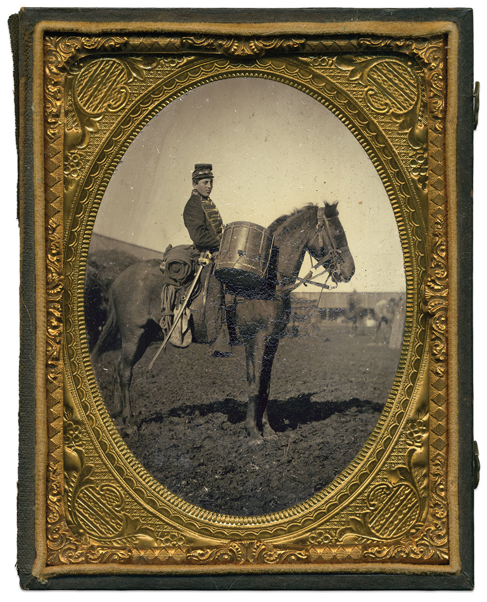 Quarter-plate ambrotype by an unidentified photographer. Rick Brown Collection of American Photography.