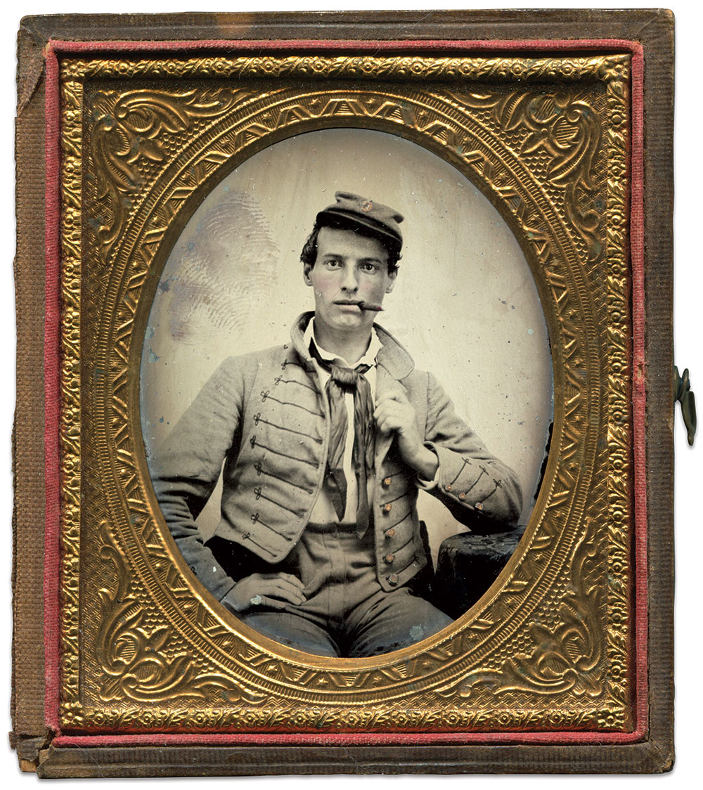 Sixth-plate ambrotype by an anonymous photographer. Rick Brown Collection.